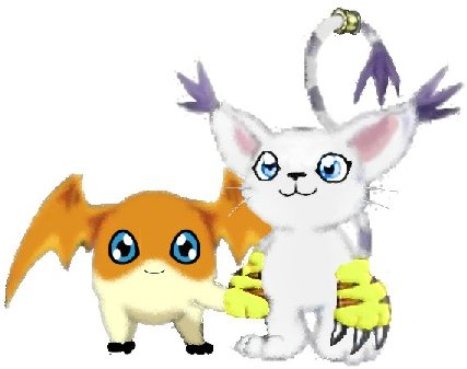 Gatomon And Patamon digimon gatomon and patamon